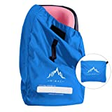 Himal Car Seat Travel Bag - Excellent Gate Check Bag for Airport, Easy Carry with Shoulder Strap and Waist Strap, Protects Universal Child's Car Seat for Travel, Blue