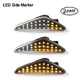 Intermitentes laterales LED OZ-LAMPE 2 X dinámica LED Intermitentes laterales ámbar 27 SMD con no polaridad CAN-bus Libre de errores OE Socket clara para BM-W E70 X5 E71 X6 F25 X3