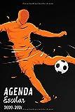Agenda Escolar 2020-2021: Agenda futbol | primaria Colegio secundaria estudiante semana vista | calendario planificador semanal formal A5 | de...