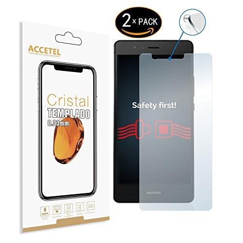 RE3O Protector de Pantalla Compatible con Huawei P9 Lite/G9 Lite Protector Cristal Vidrio Templado para Huawei P9 Lite/G9 Lite 5.2'' Pulgadas Transparente 2-Pack