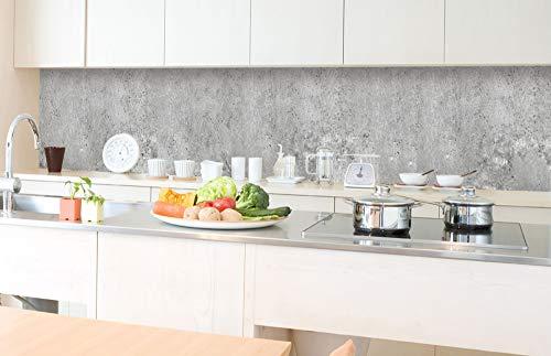DIMEX Küchenrückwand Folie selbstklebend Beton II 350 x 60 cm | Klebefolie - Dekofolie - Spritzschutz für Küche | Premium QUALITÄT