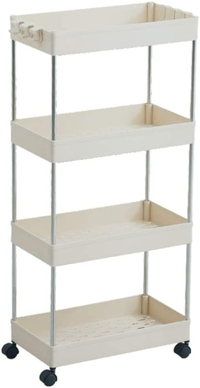 POWSTRO San Antonio Mall K Movable 4 Tier Slim Storage Cart Cheap mail order specialty store Shelving Mobile Unit