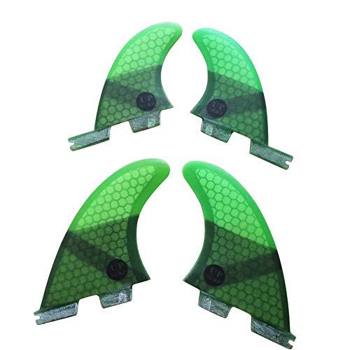 UPSURFサーフボードフィンFCS II M/Lサイズ4枚セットサーフィンフィン surfboard fins (グリーン G5+GL)
