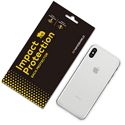 RhinoShield Back Protector [iPhone Xs Max]   Impact Protection - High Strength Impact Damping/Dispersion Technology - Clear and Scratch/Fingerprint Resistant Protection