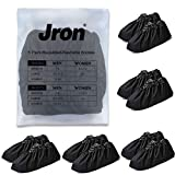 Jron 5 Pairs Premium Reusable Washable Shoe Cover Boot Covers for Contractors (5 Pairs | US 12-14 For Shoes/US 11-13 For Boots, Black)