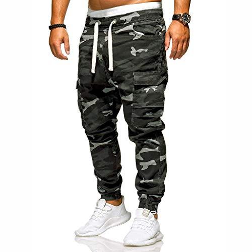 Herren Tarnhose Camouflage Pant mit Kordelzug,Herren Tactical Response Uniform Pants Lässige Hose,Feldhose US Army Outdoorhose Hose Tarnhose Camohose Freizeithose M-4XL