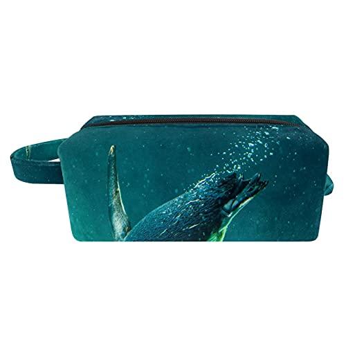 Borse da Toilette,Penguin australiano che nuota nel serbatoio dell'acqua ,make up borse da viaggio,Beauty Case da Viaggio,Cosmetici Trucco Pochette da Toilette Organizer