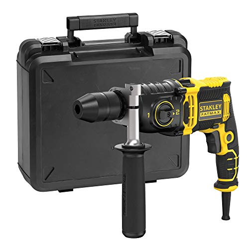 STANLEY FATMAX FMEH850K-QS - Taladro percutor con cable 850W, 54.400 ipm, incluye maletín