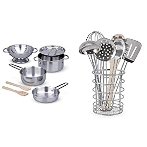 melissa & doug let's play house bundle - pots & pans and cooking utensils - 41cYlXdTaNL - Melissa & Doug Let's Play House Bundle – Pots & Pans and Cooking Utensils