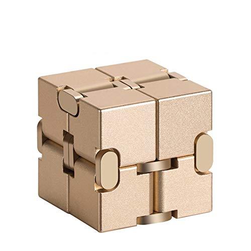 TISESIT INDOOR Infinity Cube Toy, EDC-Zappelspiel für Kinder und Erwachsene, Cooler Mini-Gadget-Spinner, am besten geeignet für Stress- und Angstlinderung und Zeit zum Töten,A
