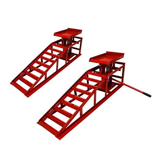 2x WD Tools PKW Auffahrrampe Höhenverstellbar 2T Hebebühne KFZ Rampe Auffahrbock Hebeplattform WDCR01