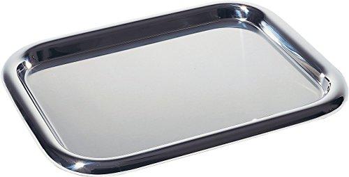 Alessi Tablett, rechteckig aus Edelstahl