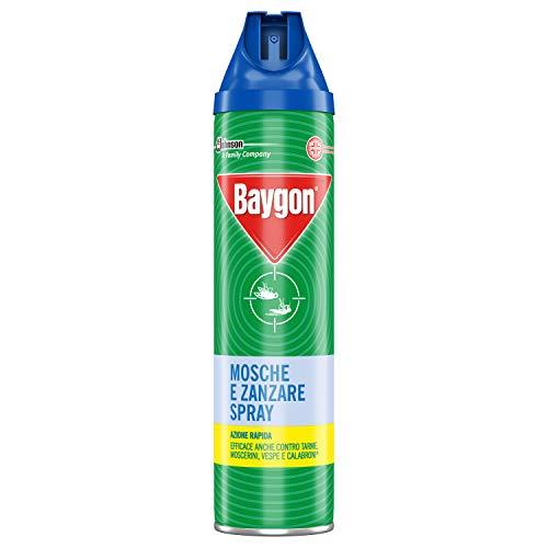Baygon Mosche & Zanzare Insetticida Spray - 3 pezzi da 400 ml [1200 ml]