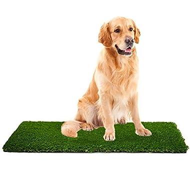 MTBRO Artificial Grass Rug,Perfect Dog Grass Mat and Grass Doormat,Realistic Indoor/Outdoor Artificial Turf,Blade Height 1.5 ,100oz/sq.yard,28''X40''