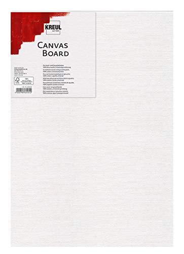 Kreul 606080 - Canvas Board, Malkarton für Acryl- und Gouachefarben, mit Leinwand kaschiert, ideal für Einsteiger, ca. 60 x 80 cm