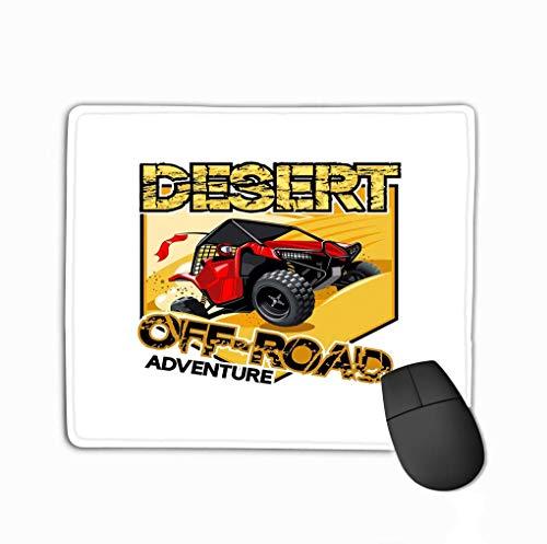 Mousepad rutschfestes Gummi Personalisiert Einzigartiges Gaming-Mauspad Off Road ATV Buggy Logo Wüstenabenteuer Zwei Farben Artwork s s Layered