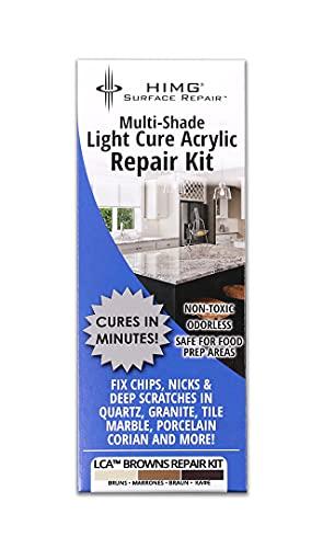 Tonos marrones - Kit de reparación de superficies para granito, mármol y acrílico