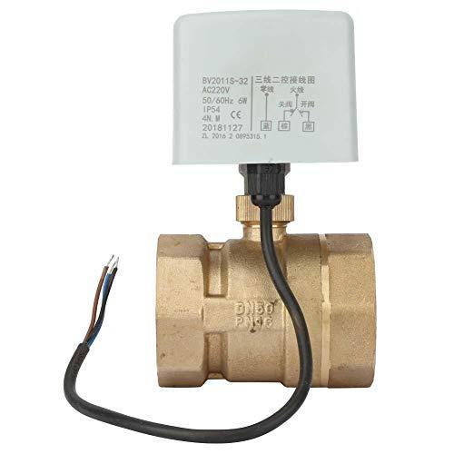 Válvula de bola motorizada AC220V de 2 pulgadas, válvula de bola eléctrica de latón de 2 vías y 3 cables, para calefacción, ventilación, aire acondicionado, etc.