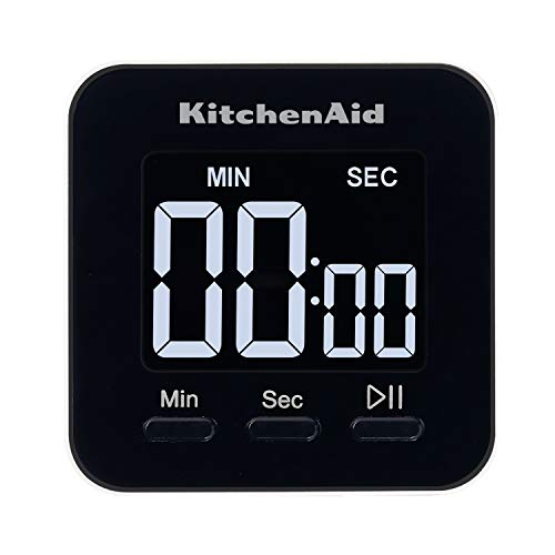 KitchenAid Single Event Digital Timer, 2.5 inches, Black