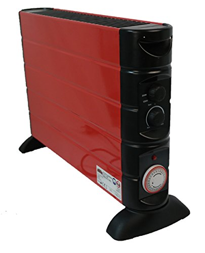 Mauk convector-calefactor rojo con temporizador, 1706