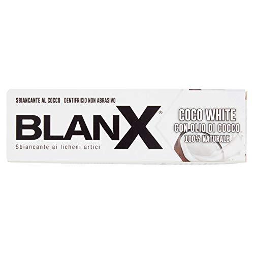 Blanx, Dentifricio Sbiancante Detox Con Olio Di Cocco 100% Naturale, Formato: 75 ml
