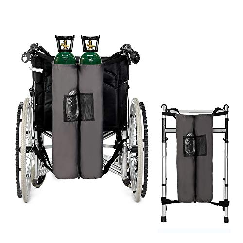 Oxygen Backpack Holder Bag for Wheelchair Walker Carrier Portable Oxygen Tank Bag