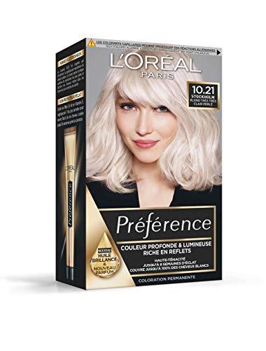 L'Oréal Paris Préférence Coloration Permanente Cheveux, Nuance : Stockholm (10.21),...