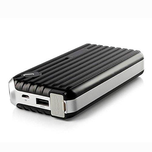 MIAO Auto-Starthilfe - Schwarz 5V / 1A Mehrzweck-Auto-Notstart-Netzteil, 8000mAh (29,6Wh) Auto-LED-Taschenlampe Notfall-Backup-Power Bank / Lade-Schatz (Kaufen Sie ein Auto-Ladegerät zu senden)