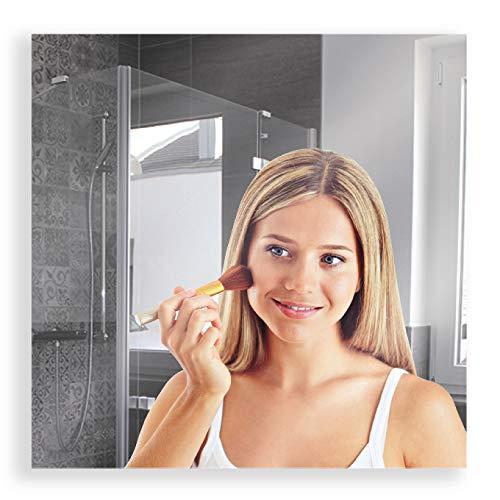 Artland Wandspiegel zum Aufhängen Rahmenlos 50x50 cm Quadratisch Spiegel ohne Rahmen für Wohnzimmer Badezimmer Flur B8JP