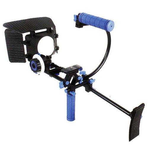 CowboyStudio Camcorder DSLR Shoulder Mount Rig Support 1 Hand & Follow Focus & Matte Box & Top Handle & C Cage for DSLR Canon Nikon Sony