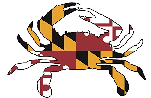Artisan Owl Maryland Crab State Flag Magnetic Auto Bumper Car Magnet - 4x6 All Weather Magnet (1 Magnet)