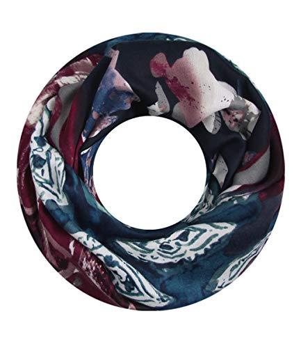 Majea NEUE Saison Damen Loop Schal viele Farben Muster Schlauchschal Halstuch in aktuellen Trendfarben (blau 24)