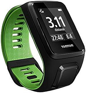 TomTom Runner 3 Cardio, Reloj cardio, Negro/Verde, L (Grande