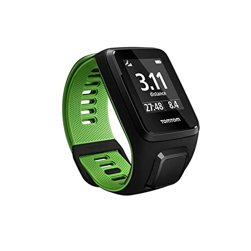TomTom RUNNER 3 - Montre de Sport GPS - Bracelet Large - Noir/Vert