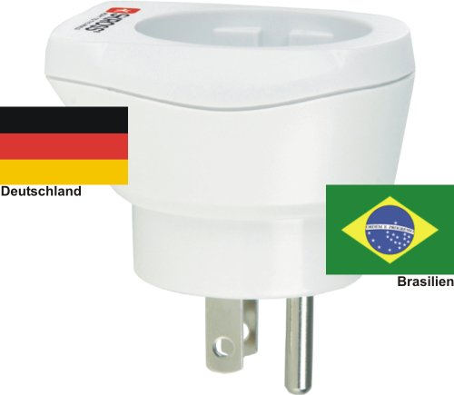 hoogwaardige design reisadapter Duitsland op Brazilië 220-230V veiligheidsstekker omzettingsstekker reisstekker netstekker - Duitsland - Brazil