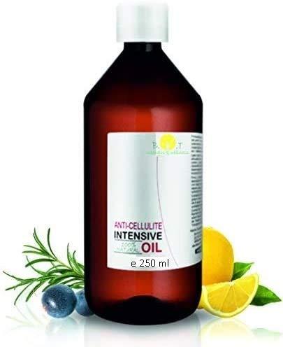 Olio Intensivo Anti cellulite Dimagrante 100{8a85472706093736b2647fab2f342199fa3a0294cee65d81bdf30e277e28e6bd} Naturale con Oli essenziali di limone, rosmarino, cannella, basilico e ginepro 250 ml - Penetra 6 volte più in profondità