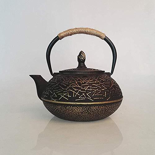 YNHNI Té teteras Ollas Caldera Cocina Potable Ware Hierro Fundido Tea Pot Tradional teteras