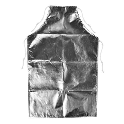 Delantal resistente al calor, delantal de papel de aluminio resistente al calor de 1000 ° C Adecuado para industrias de fabricación y fundición de metal y vidrio y delantales de barbacoa para el hogar