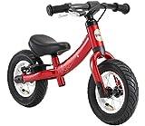 BIKESTAR 2-en-1 Bicicleta sin Pedales para niños y niñas 2-3 años | Bici con Ruedas de 10' Edición Sport | Rojo