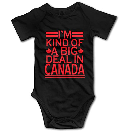 DKISEE Im Kind of A Big Deal in Canada Baby Cotton Short Sleeve Onesies Bodysuit Jumpsuit, 0-3 Months, ZI3452