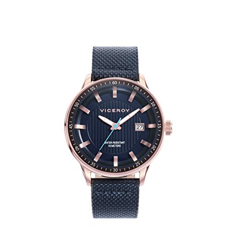 Viceroy Herren Analog Quarz Uhr mit Leder Armband 42303-37