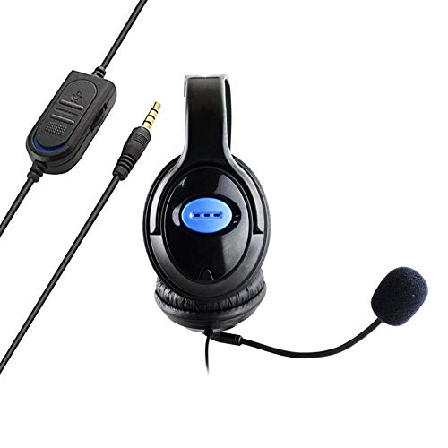 Perfeclan 3.5mm USB Computer Headset PC Headphone with Microphone for Laptops Teams Skype Wired Two Ears Cell Phone Headset for Cellphones Mobiles Tablets