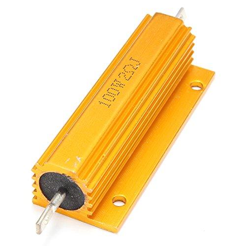 SODIAL (R) Vergoldete Leistung Aluminum Widerstand Widerstand 100W, 2 Ohm 2R