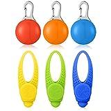 Luz LED de Collar de Perro, 6 Luces Coloridas de Collares de Perro de Abrochar con 3 Modos Brillantes, Colgante Resplandeciente de Mascotas con Batería Luces de Caminar de Noche de Perros