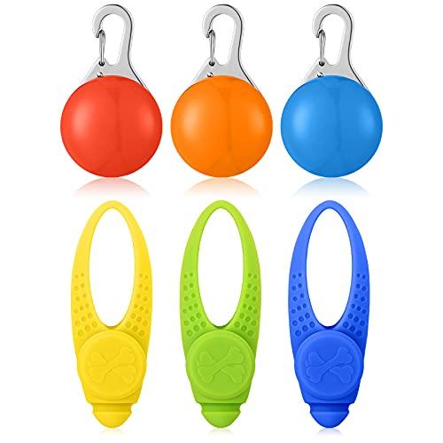 6 Stücke Sicherheits Clip-On LED Blinklicht Hunde LED Licht Leuchtanhänger Schlüsselanhänger Haustier Sicherheitslicht mit Batterie 3 Blinkmodis mit Batterie für Hund,Läufer,Jogger,Fahrradfahrer