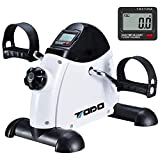 TODO Mini Exercise Bike Pedal Exerciser with LCD Monitor for Leg and Arm