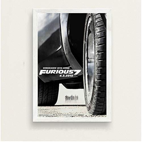 Póster De La Serie De Películas Clásicas Fast and Furious Paul Walker Vin Diesel Pintura En Lienzo De Arte Retro para La Decoración De La Pared del Hogar 50X70 Cm (19.68X27.55 In) N-467
