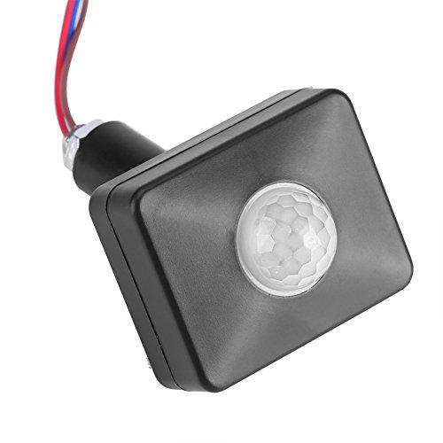 Sensor de Movimiento, Detector de Movimiento por Infrarrojos PIR, Impermeable IP65, Sensor de Interruptor para casa, jardín, Interruptor de luz Exterior Cuerpo Humano, 110-240 V