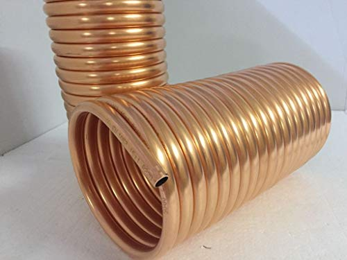 Spirale aus Kupferrohr 15x1mm für OFENROHR 150mm aus 10m mit InnenDurchmesser von ca.152mm