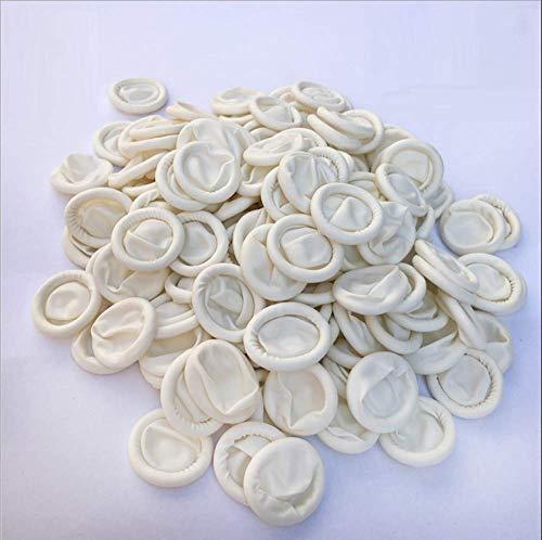 HLOEC Einweghandschuhe - 100PCS Einweg-Fingerabdrücke aus Latexkautschuk Antistatische Fingerspitzen-Schutzhandschuhe für die Lebensmittelreinigung Kochzubehör, 50 Stück, Normale Größe